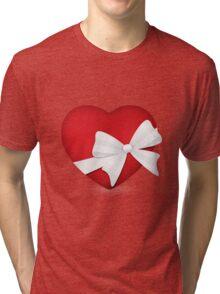 Valentine Red Heart Tri-blend T-Shirt