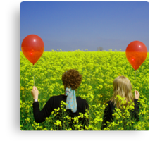 From the red balloon diaries Canvas Print