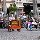 Antwerp - Street Musician  by Gilberte