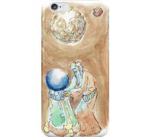 Arcaron: big white moon iPhone Case/Skin