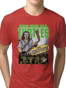 Ninja Turtles Retro First Movie 1990 Casey Jones Tri-blend T-Shirt