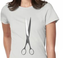 Graphic Scissors Womens Fitted T-Shirt