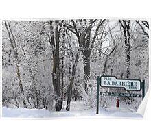 La Barriere Park Poster