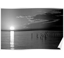 Colorless Sunset Poster