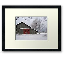 Rustic Red Framed Print