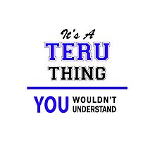 It's a TERU thing, you wouldn't understand !! Photographic Print