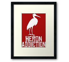Heron Addiction Framed Print