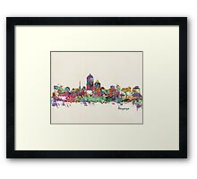 Albuquerque New Mexico skyline Framed Print
