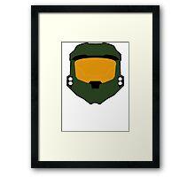 Master chief minimalist Framed Print