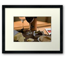 Red Wine & Cheese Framed Print