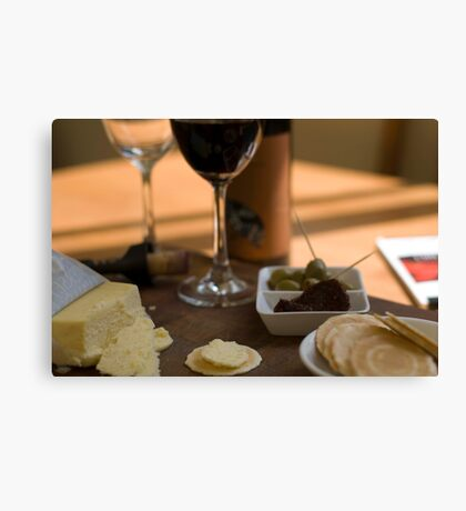 Red Wine & Cheese Canvas Print