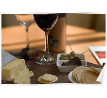 Red Wine & Cheese Poster