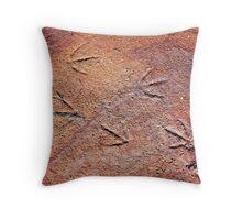 Blue Heron Tracks Throw Pillow