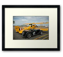Two Classic Vehicles, Cunderdin Airshow, Australia 2005 Framed Print