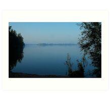 Blue dreams at the Mirror Lake Art Print