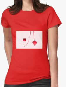 Ribbon of Hearts Womens Fitted T-Shirt