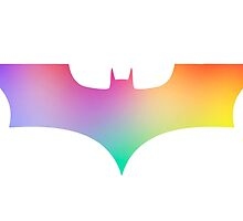 BAT MAN multicolor pop art -  Superhero / Comic by T M B
