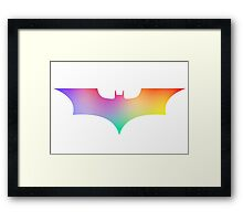 BAT MAN multicolor pop art -  Superhero / Comic Framed Print