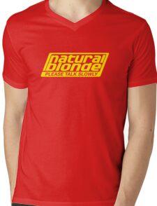 Natural Blonde... Please Talk Slowly Mens V-Neck T-Shirt