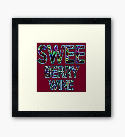 SWEE BERRY WINE Dr. Steve Brule Design by SmashBam Framed Print