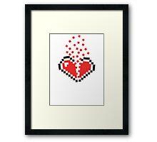 8 Bit Heart Break Framed Print