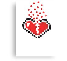 8 Bit Heart Break Canvas Print