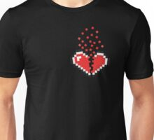 8 Bit Heart Break Unisex T-Shirt