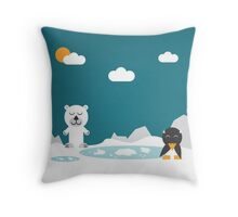 ICEBEAR & FRIEND Throw Pillow