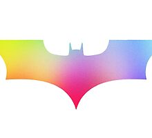 BAT MAN Retro vintage multicolor -  Superhero / Comic by T M B