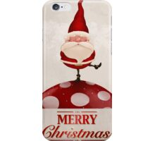 Santa Claus on fungus greeting card iPhone Case/Skin