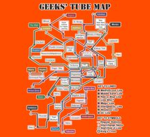 Geeks' Tube Map Kids Clothes