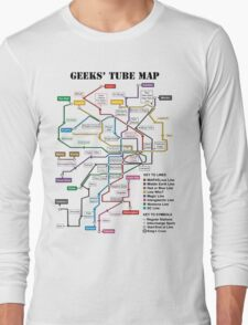 Geeks' Tube Map Long Sleeve T-Shirt