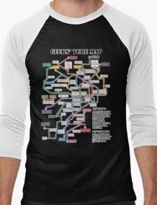 Geeks' Tube Map Men's Baseball ¾ T-Shirt