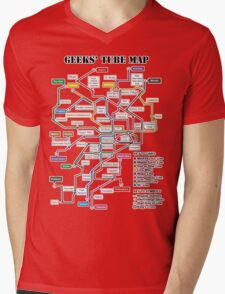 Geeks' Tube Map Mens V-Neck T-Shirt