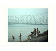 calcutta bridge Art Print