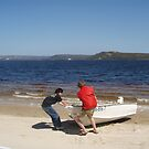Macquarie Harbour (tiny part of) at Strahan by gaylene