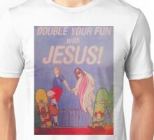 Double your fun with Jesus! Unisex T-Shirt