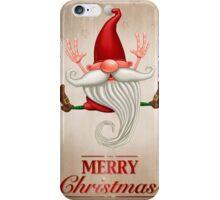 Happy Christmas elf Greeting card iPhone Case/Skin