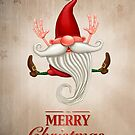 Happy Christmas elf Greeting card by jordygraph