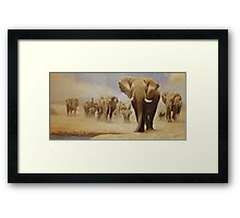 The water hole (Original Sold) Framed Print