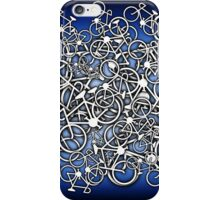 Tangled Up In Bicycles 2 - Blue Black fade iPhone Case/Skin