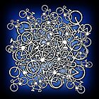 Tangled Up In Bicycles 2 - Blue Black fade by Ra12