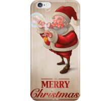 Santa Claus and the bubbles soap Greeting card iPhone Case/Skin