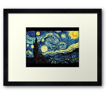 Vincent Van Gogh - Starry night  Framed Print