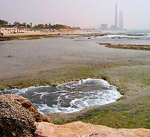 Mediterranean sea shore 2 by Efi Keren