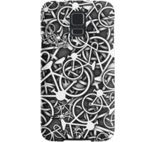 Tangled Up in Bikes 3 - Grey Samsung Galaxy Case/Skin