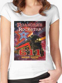 Roanoke's Rockstar - Norfolk & Western #611 - T-Shirt Art Women's Fitted Scoop T-Shirt