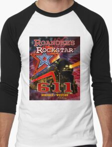 Roanoke's Rockstar - Norfolk & Western #611 - T-Shirt Art Men's Baseball ¾ T-Shirt
