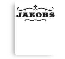 Jackobs Logo Canvas Print