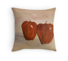 2 apples Throw Pillow